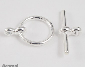 11mm Silver Simple Toggle Clasp #CLB031