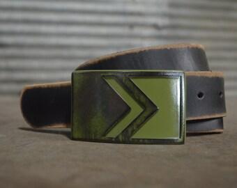 CHEVRON STYLE belt buckle