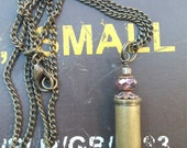 La Bandita 38 Special- Upcycled Bullet Casing Necklace with Crystal