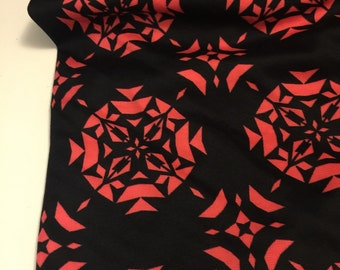 Polyester Double  Knit  Print 1 Yard