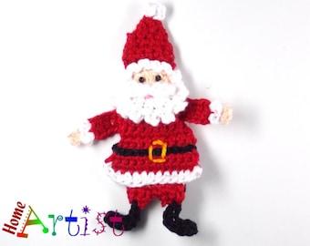 Crochet Applique Santa Claus Xmas
