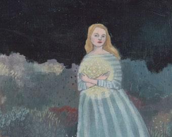 Original oil painting - Laura held the stars close - fine art painting