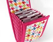 Circular Needle Case - Rainbow Houndstooth - Needle Holder Needle Wallet Circular Needle Organizer Colorful