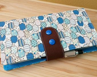 Fabric Fauxdori Travelers Notebook porcupine  Kawaii Fabric   internal pockets pen loop snap closer