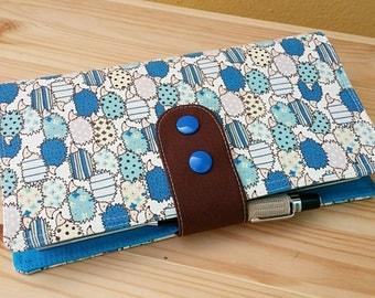 Fabric Fauxdori Travelers Notebook porcupine  Kawaii Fabric   internal pockets pen loop snap closer