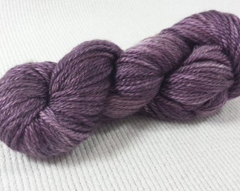 NEW Hand Dyed Mini Skein Merino Silk Fingering Weight 1 ounce 122 yards - Paw Paw Blossom Semi Solid get in on mini skein madness! PP2