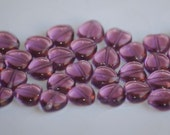 8mm AMETHYST Pressed Glass Czech Heart Beads (49) PAB4