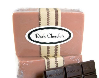 Clearance Sale, Dark Chocolate Soap, Handmade Chocolate Scented Soap