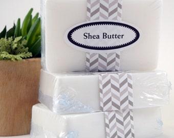 Shea Butter Soap Bar, Unscented Shea Butter Soap