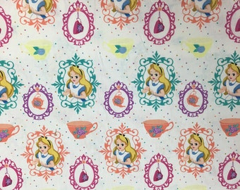 Disney Alice in Wonderland White Fabric, 1 Yard
