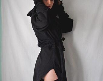 NEW chrysalis // belted hoodie