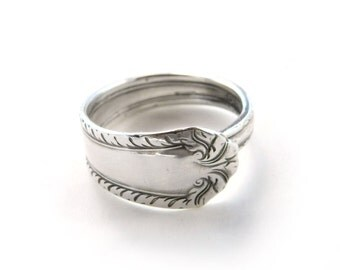 Silver Spoon Ring, Size 11 Spoon Ring, Silverware Jewelry, Silver Ring, Men's Silver Ring, , Spoon Ring, Spoon Jewelry, Made by Durango Rose