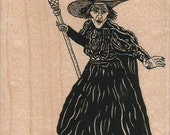 Rubber stamp Halloween Wicked Witch of the West Medium Wizard of Oz   scrapbooking supplies number 10575