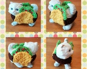 TacoCat - Crocheted Yarnbombed Ceramic Figure