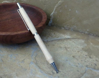 Mechanical Pencil - Hand Turned Wood - Maple - 0.7mm Lead