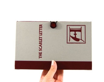 The Scarlet Letter Book Clutch Purse - made from recycled vintage book by Rebound Designs