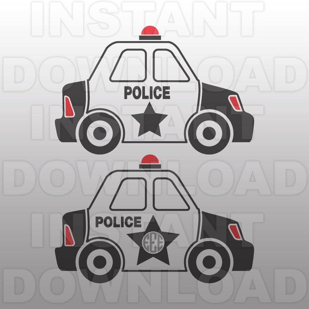 Police Svg File Police Car Svg Monogram Svg Cut File