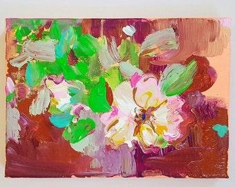 Rose III Acrylic Painting