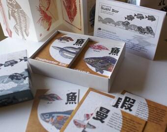 Sushi Bar Card Game + Post Cards