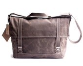 waxed canvas cross body bag - Messenger no.3 - in brown