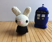 The Doctor Moon Bun - Ninth Doctor Amigurumi Bunny Rabbit - Christopher Eccleston