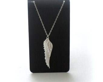 Wing Necklace (small) Sterling Silver Wing Necklace Angel Wing Necklace Silver Wing on Sterling Silver Chain