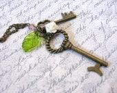 Safe Secrets Brass Key Necklace