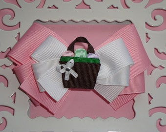 Easter Basket Layered Boutique Bow