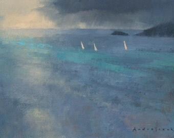 Rain Approaching, landscape oil painting, direct from artist