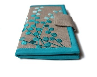 Womens wallet | MADE TO ORDER | Carry all Wallet | Handmade fabric Wallet | Teal blue wallets for women | Made to order | Women's Gift