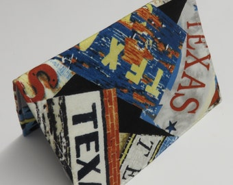 SAMPLE SALE - Ready to Ship - Fabric Passport Holder Cover Case Travel Cruise Vacation Honeymoon - Texas - Lonestar State Fabric