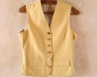 Canary Yellow Fox Hunting Vest Size Small US 6