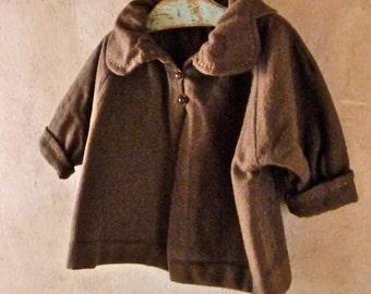 1920s Brown Wool Baby Jacket