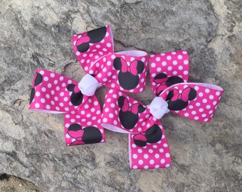 Minnie Mouse Hair Clippies-Ready to Ship