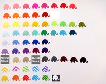 Elephant Confetti Choose Your Color(s) Die Cut Paper Elephants for Parties, Weddings, Scrapbooking, Gift and Envelope Stuffing, and More.
