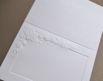 Embossed Blank Wedding Thank You Cards and Matching Envelopes | Eighty Five (85) Thank You cards For Wedding or Shower