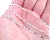 Soldered Silver Plated Round Cable Cross Chain, C027Y