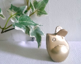 Small Vintage Brass Mouse Figurine