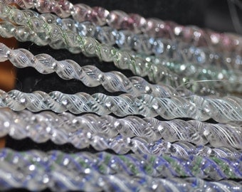 Set of 12 Blown Glass Icicle Ornaments