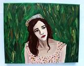 Jessica 8x10 acrylic portrait painting