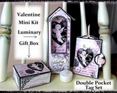 Victorian Cherub Mini Valentine Printable Gift Set with Directions Cottage Shabby Chic Digital Printable INSTANT DOWNLOAD