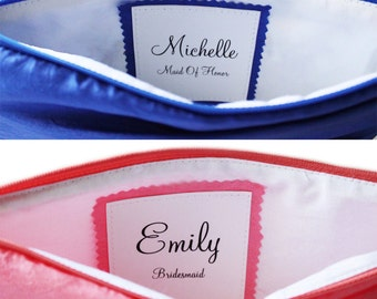 Maid of Honor or Bridesmaid Purse- Monogrammed Add-on Label
