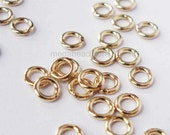 50 pcs 3mm 22 Gauge Closed (Soldered) Jump Rings 14/20 Gold Filled F29GFC