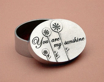 beehive you are my sunshine box - pewter