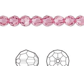 Swarovski Crystal beads 6MM ROSE  (22) 5000 ROUND
