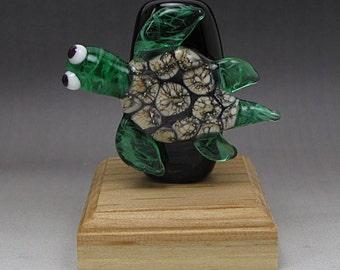 Handmade Lampwork Glass Scroll Focal Bead by Jason Powers SRA