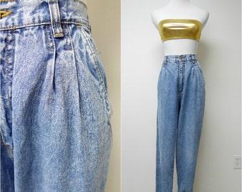 BILL BLASS . high waist . acid wash denim jeans . size 10