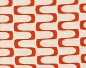 Jessica Jones for Cloud 9 ORGANIC FABRIC - In Theory Barkcloth - Wavelength - Red