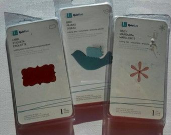 Set of 3 Thin Metal Paper Cutting Dies