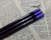 I Am Awesome Hand Stamped Pencils - Set of 3 in Choice of colours